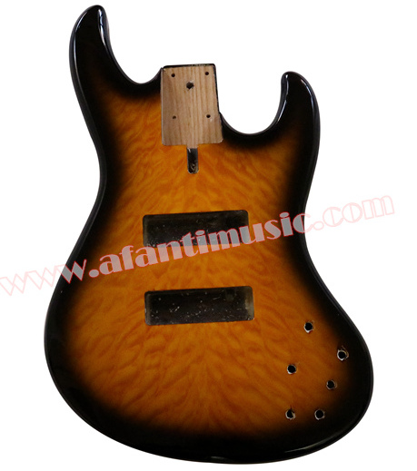 Afanti Music DIY Bass Alder body DIY Electric Bass guitar Body (AQT-011) цена
