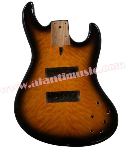 Afanti Music DIY Bass Alder body DIY Electric Bass guitar Body (AQT-011) afanti music prs diy guitar kit prs style electric guitar apr 727