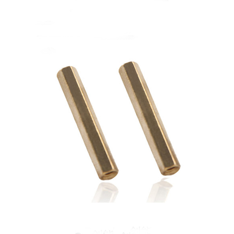 Free Shipping 50pcs/lot  M3*18 M3x18 Female-female Brass Standoff Spacer M3 Female x M3 Female 18mm free shipping 50pcs lot m3 5 0x35mm aluminum standoff spacer for dslr drone