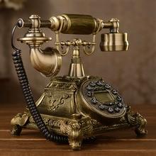 Teléfono antiguo de moda vintage/identificador de llamadas manos libres/teléfono retroiluminado azul