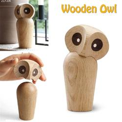 Innovative Owl Animal Statue Ornaments Cute Wooden Nightowl European Fashion Home & Kitchen Exquisite Art Decorations