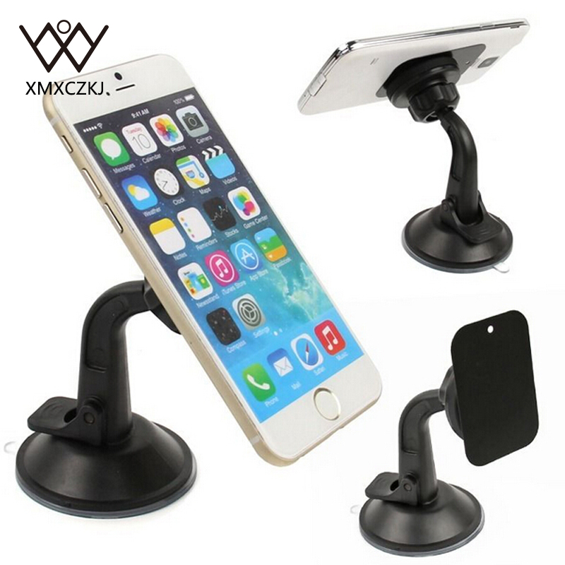 360 Rotating <font><b>Universal</b></font> <font><b>Suction</b></font> <font><b>Cups</b></font> Car Windshield Mount Holder Stand For Cellphone <font><b>Magnetic</b></font> Mobile Phone Holder For CPS Tablet
