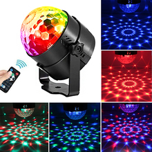 USB Disco Ball Lamp Led Party Lights 5V 3W DJ Dance Music Sound Activated Portable Stage Lamps For Car Xmas Birthday Party Light sound activated el car decoration sticker crazy urban disco