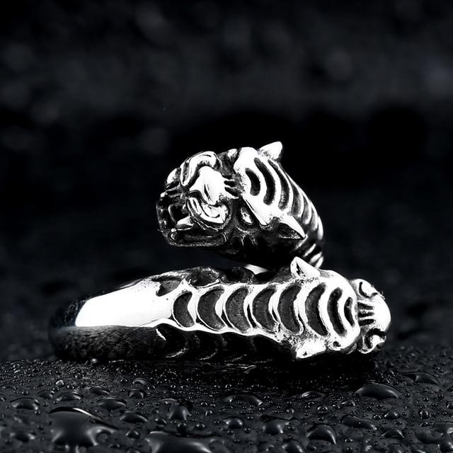 Bague tigre homme
