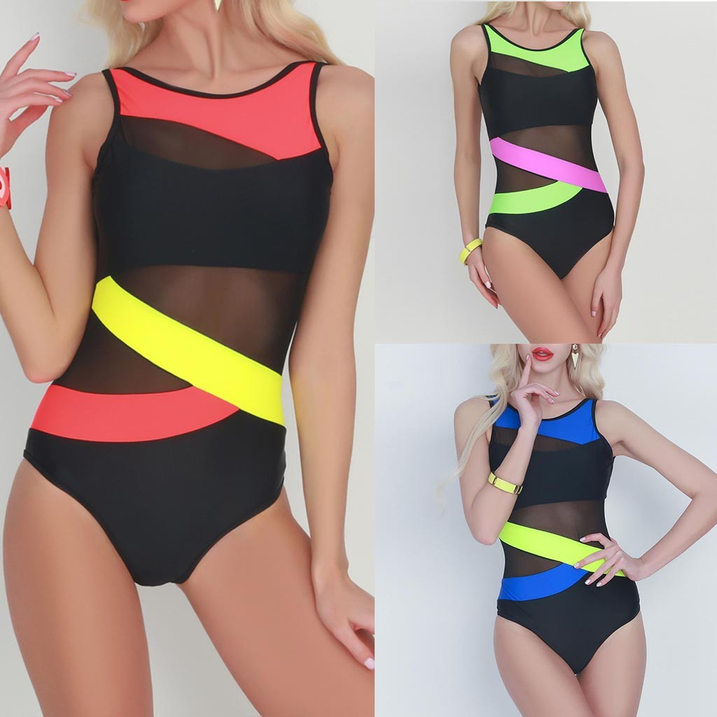 bikini 2019 sexy Women's Spell Color Push-up Bikini Bra Swimwear Swimsuit Bathing Beachwear swimwear women one piece swimsuit 1