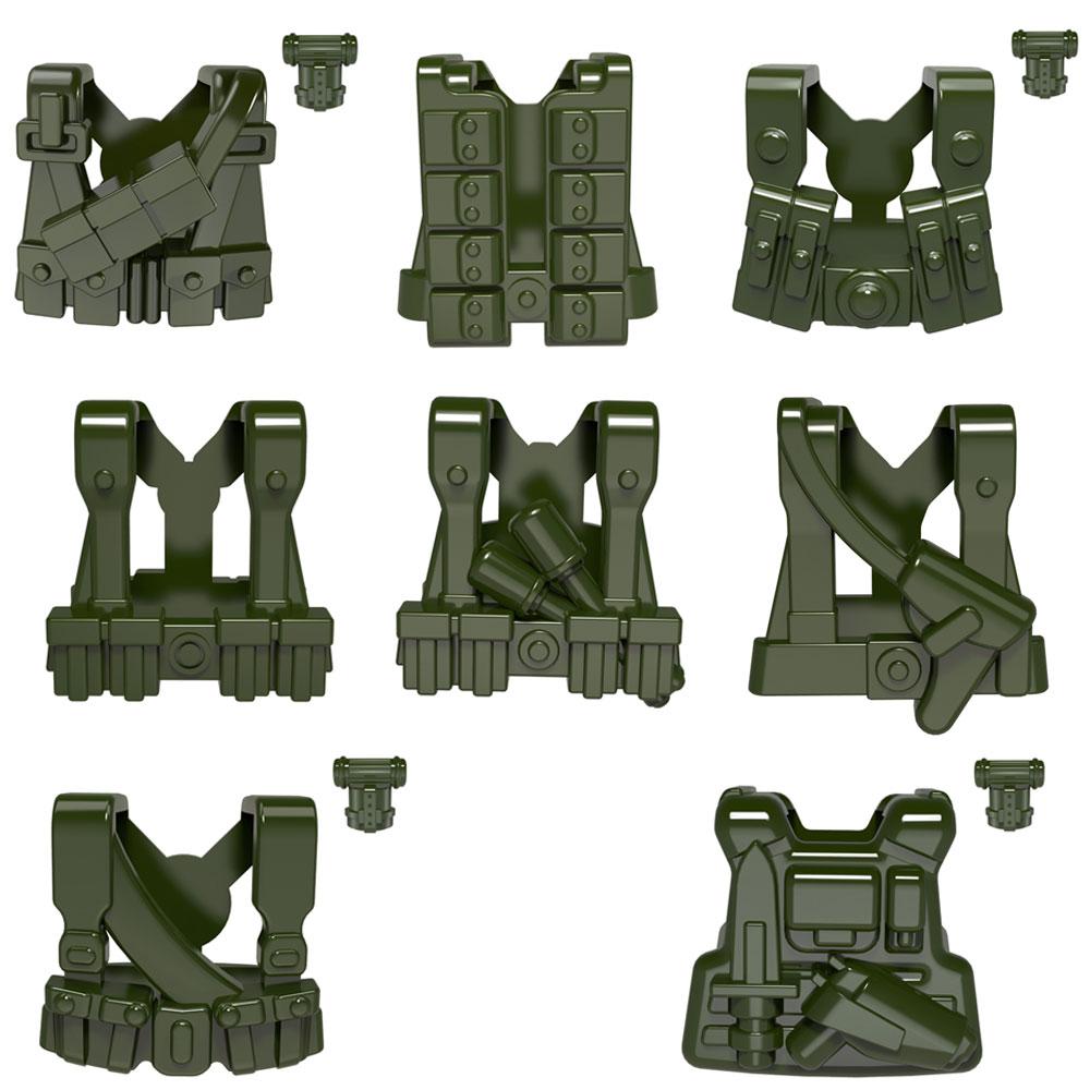 10pcs lot Tactical Vest World War II WW2 Defense Armors MOC gear Accessories Part Building font