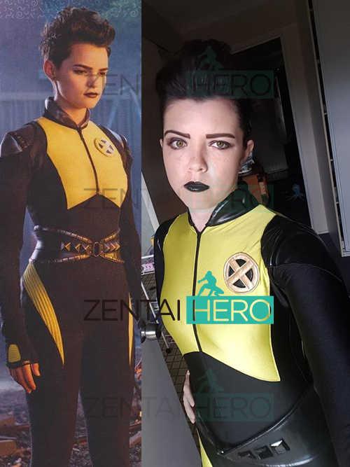 3a5e7baf84ba Free Shipping 2018 Film Deadpool 2 Superhero Costume Negasonic Teenage  Warhead Cosplay Costume Catsuit Halloween With