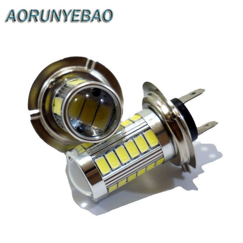 AORUNYEBAO 1X Super Bright H7 LED Żarówka 5630 33 SMD Mgła Dzień - Światła samochodowe - Zdjęcie 1