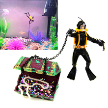 Hunter Treasure Figure Action Fish Diver Tank Ornament Aquarium Landscape Fish Aquatic Decorations Pet Supplies