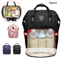 Lequeen Large Capacity Mummy Maternity Nappy Bag Baby Bag Travel Oxford Waterproof Backpack Nursing Bag Stroller Bag Baby Care