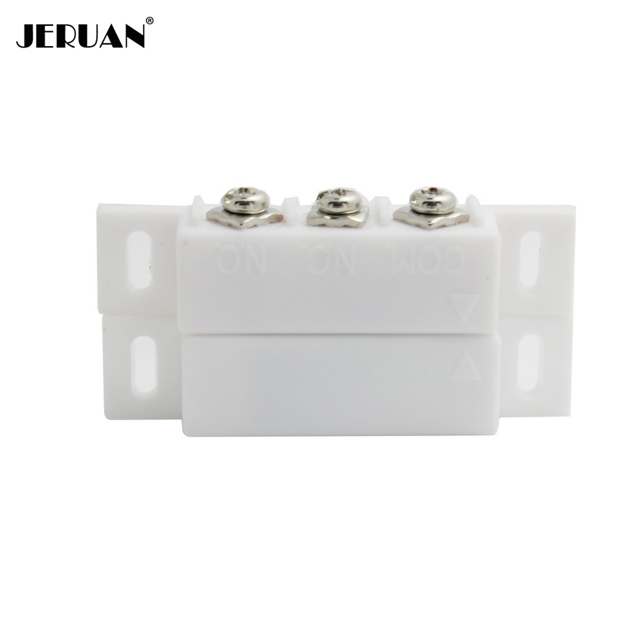 JERUAN (10 pairs) Plastic Magnetic switch Door Window Open detector NC/NO optional output Alarm accessories Chest Lamp Sensor jeruan 2 pairs magnetic reed switch normally open or closed nc no door alarm window security