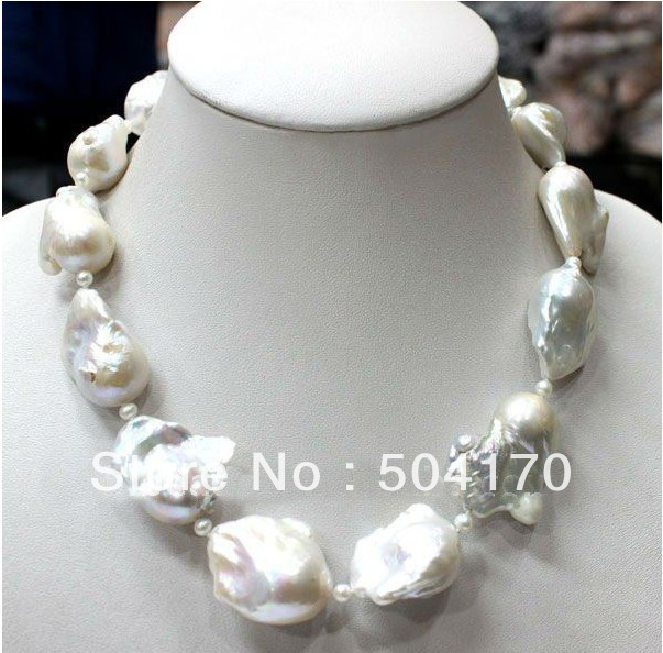 Splendid Genuine Freshwater Large Size Irregular Pearl Necklace Premium Quality Pearl Jewelry Gift Anniversary Jewelry  FP181