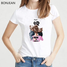 High quality super mom Tshirt life shirt mother children Summer graphic tees Women Vogue T Streetwear