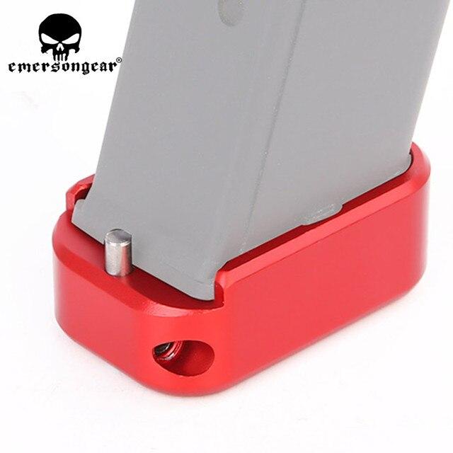 Emersongear Almofada de Base Para Glock IPSC Competição 17 19 23 Glock Tático Glock Coldre Glock Pad Adater para o Tamanho Padrão