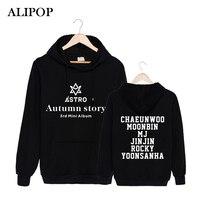 Alipop KPOP корейский мода Astro 3rd Мини альбом Autumn Story хлопковые толстовки с капюшоном со шляпой одежда Пуловеры для женщин Толстовка PT305