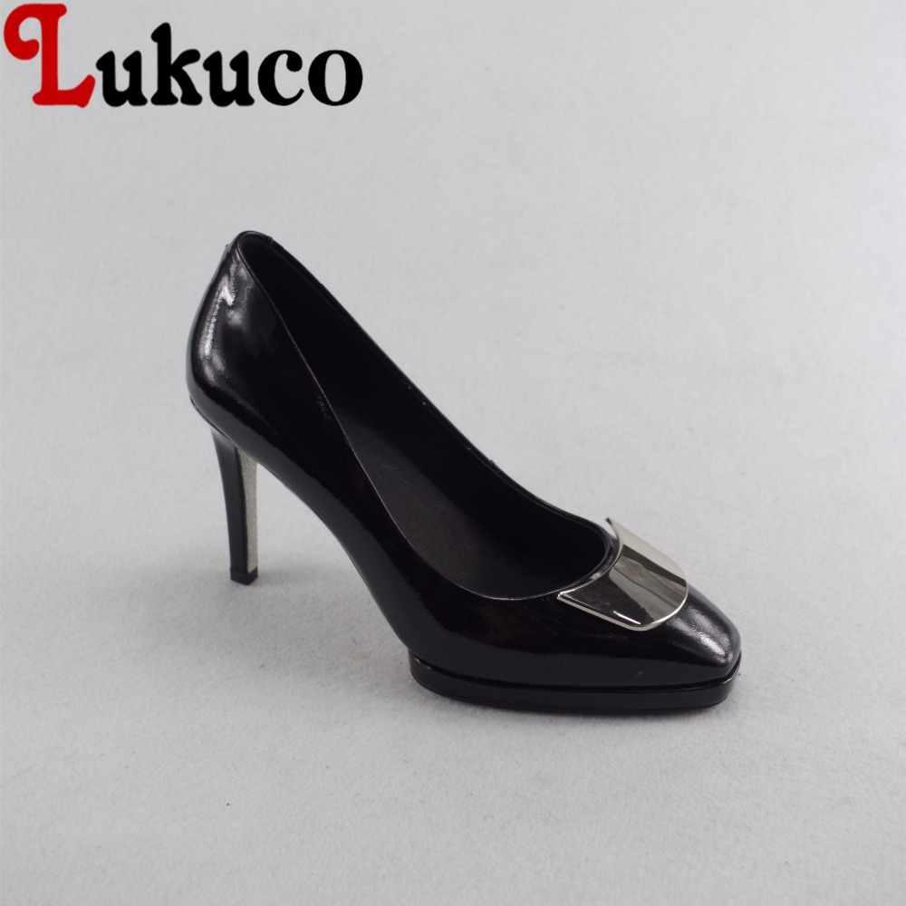 Lukuco elegant pure color women square toe party pumps microfiber made high thin heel shoes with pigskin inside lukuco pure color women mid calf boots microfiber made buckle design low hoof heel zip shoes with short plush inside