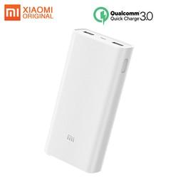 Original Xiaomi Power Bank 20000mAh 2C Powerbank QC3.0 Portable Charger 2 USB Port Batterie Externe Mi Power Bank 20000mah
