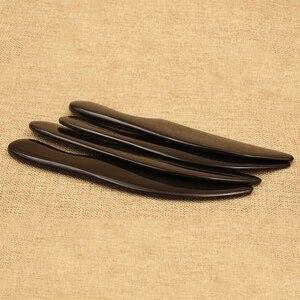 Натуральный Черный Буффало Рог Gua Sha доска Guasha терапия скребок для соскребания лезвие пластины массаж спины уход за инструментом