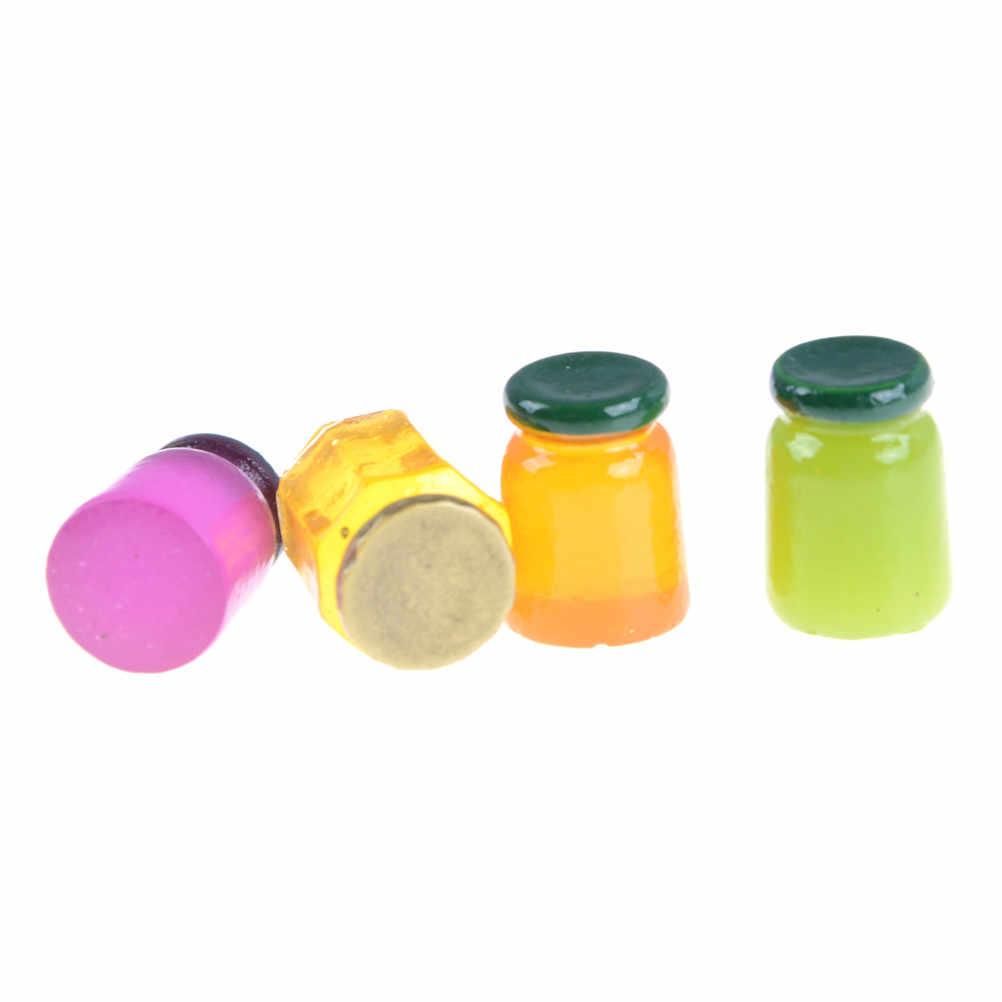 5 шт. 25 мм Кукольный Миниатюрный фрукты Варенье Бутылочки смесь ароматов Еда Кухонные игрушки для детей Игрушечные лошадки подарок на день рождения