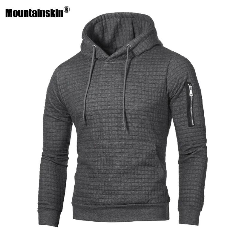 Mountainskin de los hombres sudaderas con capucha primavera otoño ropa deportiva de manga larga Casual abrigo con capucha para hombre ropa de la marca Sudadera Hombre 4XL SA519