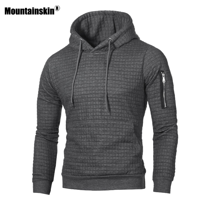 Mountainskin Men's Hoodies Spring Autumn Sportswear Long Sleeve Casual Hooded Coat Mens Brand Clothing Male Sweatshirt 4XL SA519