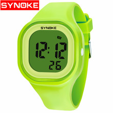 Купить с кэшбэком Sport Women Men Watch Stop Watch Timer LED Black Light  Digital Wrist Watches 30M Waterproof Alarm Clock