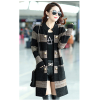 Women's new wave large size loose Korean version of the wild Female sweater cardigan women's jacket long sweater A280