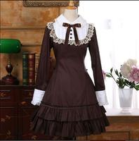 Spring Lolita dress Retro Long sleeve Gothic Dresses for women