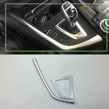 цены Car Accessories Interior Decoration ABS Matte LHD Gear Shift Panel Cover Trim For BMW 3 Series 2017 Car Styling