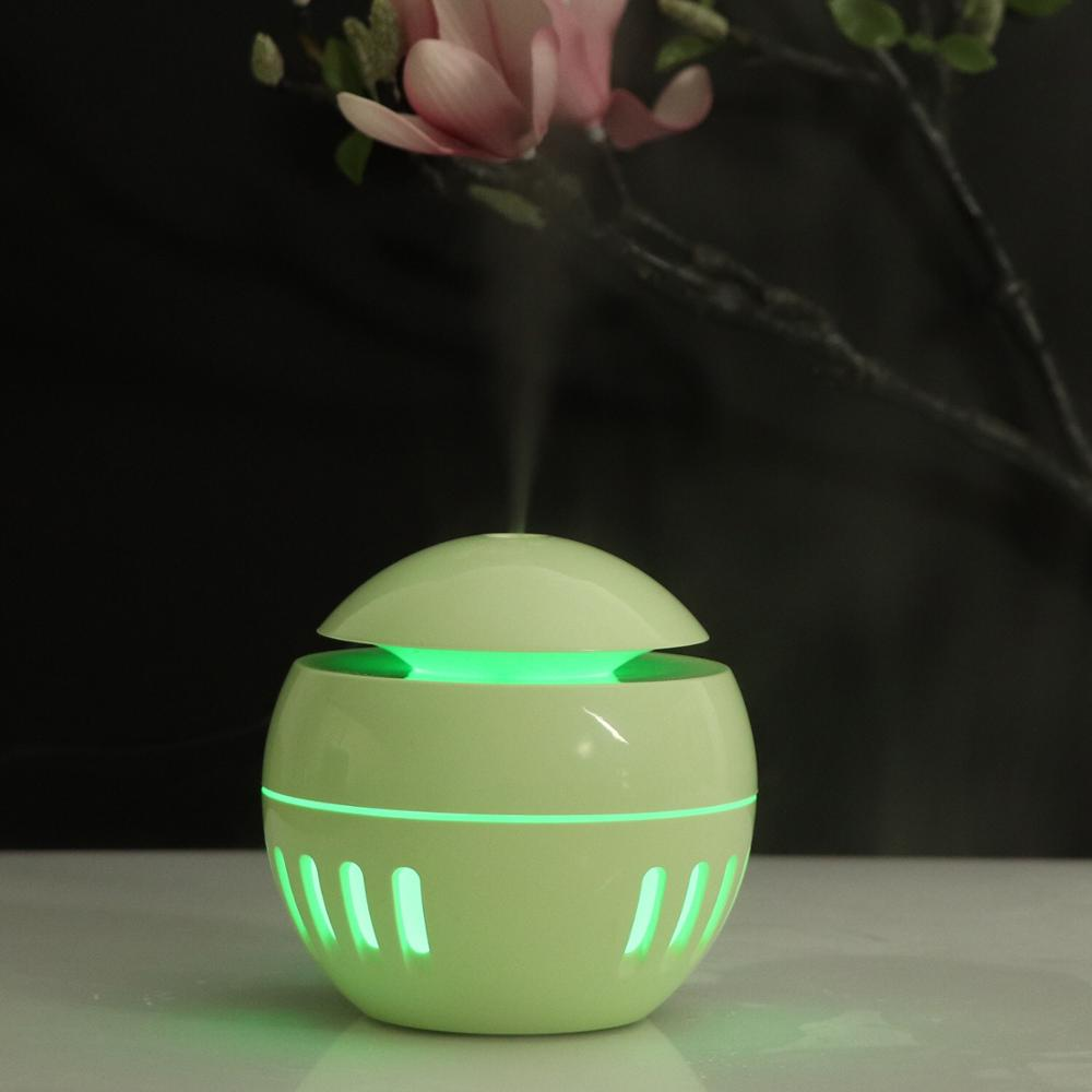 New USB Wood Grain Humidifier, Remote Control Of Colorful Air Purification Essential Oil Diffuser, Suitable For Families.