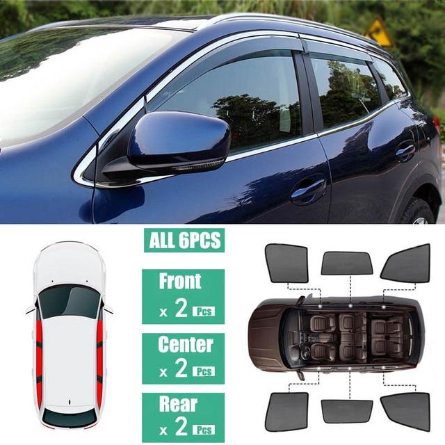 Seite Windows Magnetische Sonne Schatten UV Schutz Ray Blockieren Mesh Visier Fit Für Renault Kadjar 2016 2018