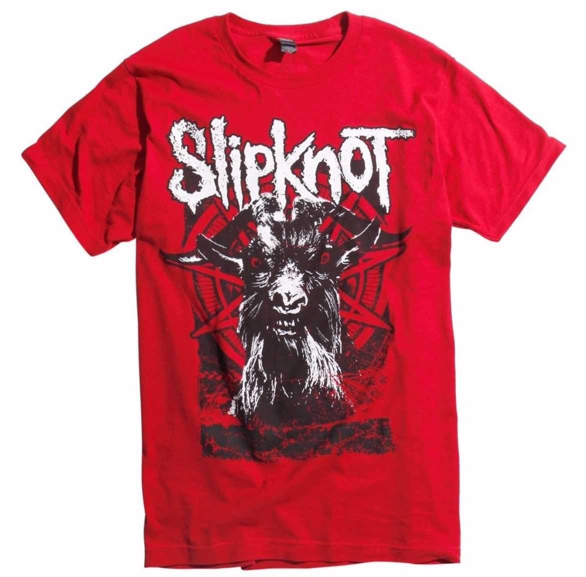 <font><b>Slipknot</b></font> <font><b>IOWA</b></font> GOAT T-Shirt NEW Authentic & Licensed Front & Back Design Summer Men'S fashion Tee,Comfortable t shirt image