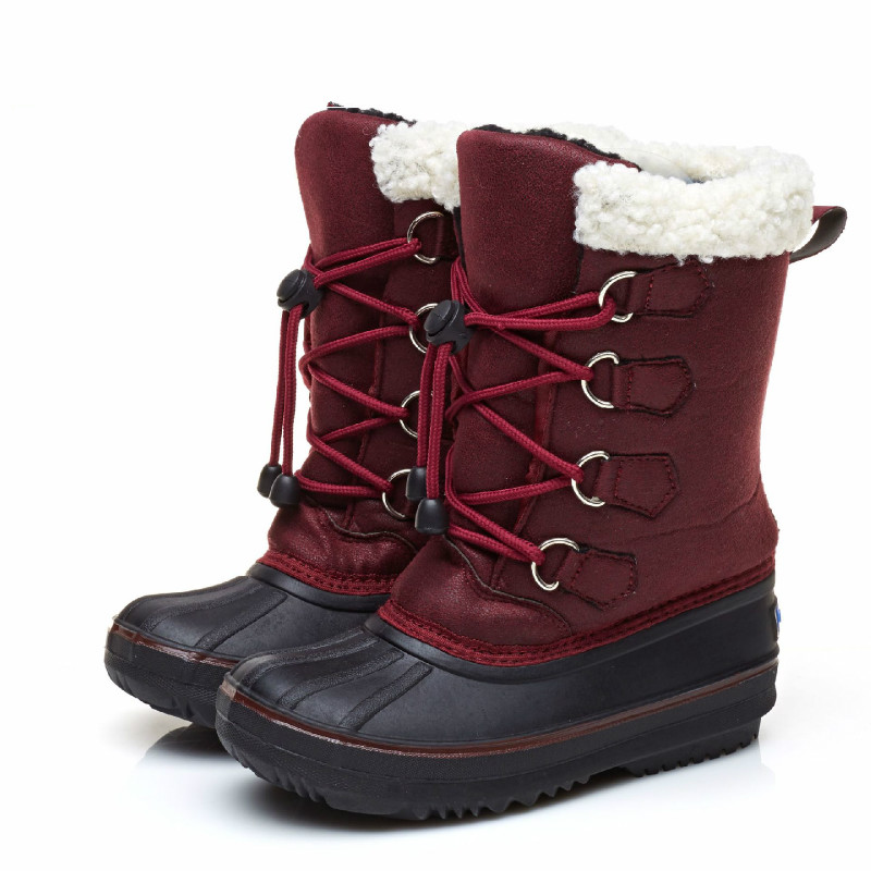 Mioigee 2018 New Childrens Winter Boots Kids Girl Boy Snow Boots Comfort Thick Antislip Snow Boots Fashion Cotton-padded Shoes