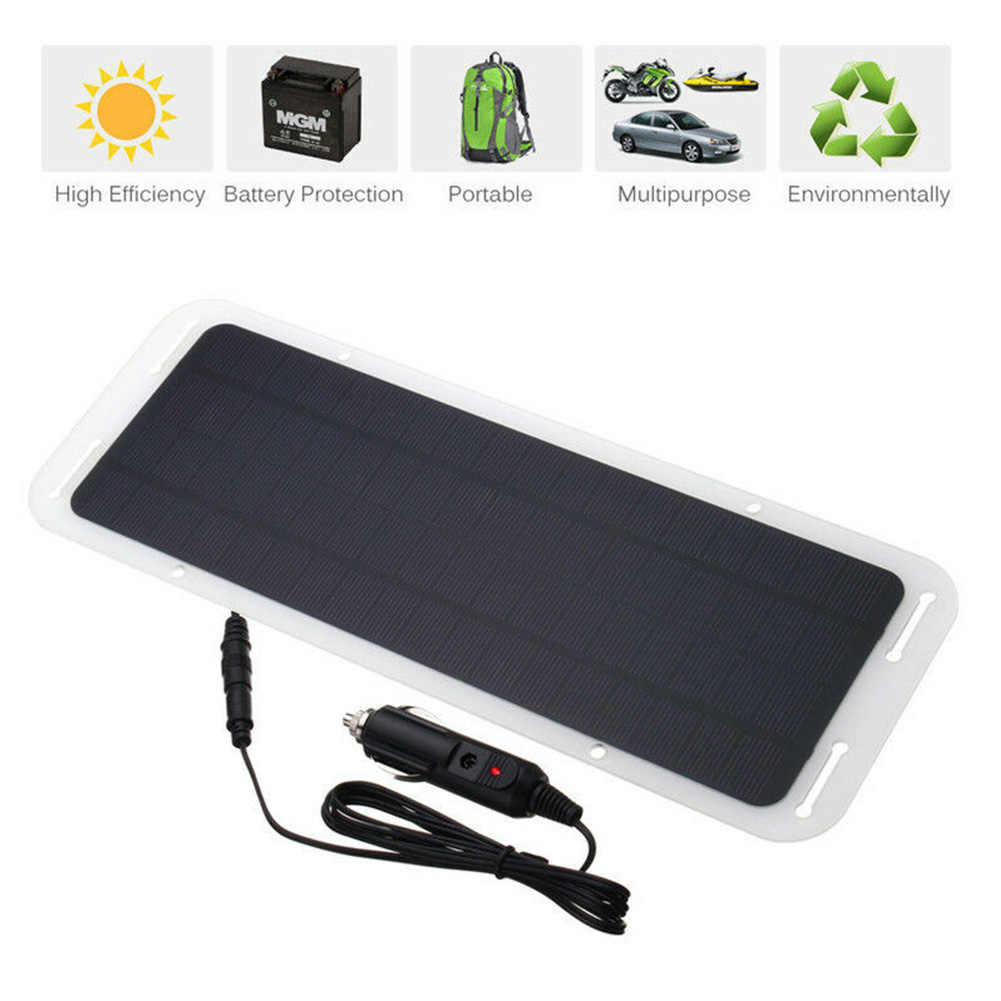 Tấm pin năng lượng mặt trời Sạc Xe Hơi 12 V Sạc Người Bảo Trì Sạc cho Ô Tô Xe Máy Máy Kéo Thuyền RV Pin