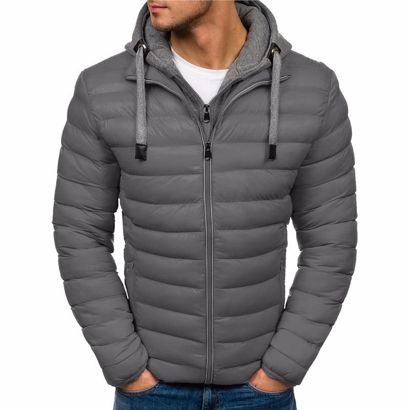 ZOGAA Brand Men Autumn Winter Jacket Coat Casual Brand Hooded Coat Men Parka Cotton Overcoat Warm Clothes Streetwear Men Parkas