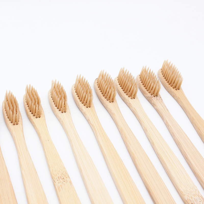 4PCS Various Colors Bristles Head Bamboo Toothbrush Wooden Handle Low carbon Environmentally Toothbrush Oral Care Soft image
