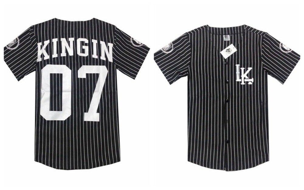 hip hop t shirt Tyga style Mens baseball jerseys 2015 Zebra stripes ...