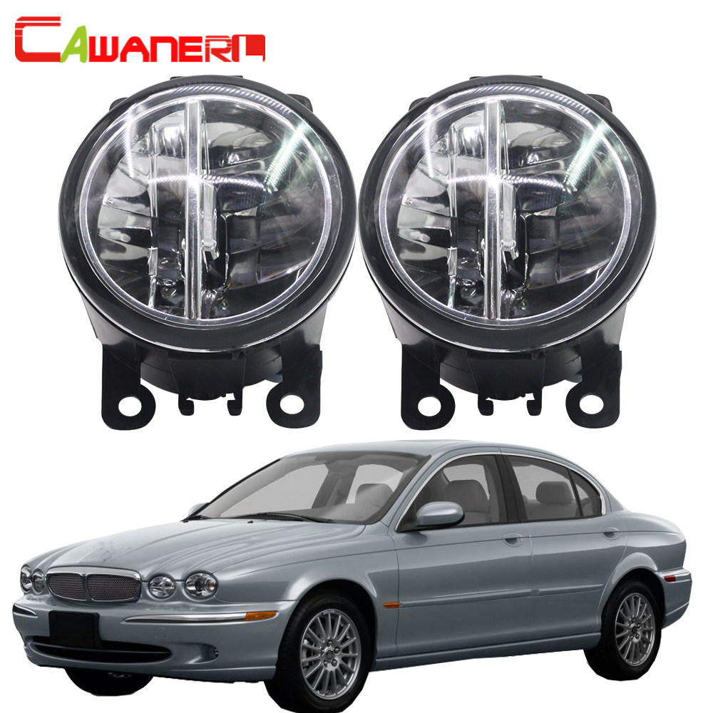 hight resolution of cawanerl for 2001 2009 jaguar x type cf1 saloon car led bulb 4000lm fog light drl daytime running lamp styling white 6000k 12v