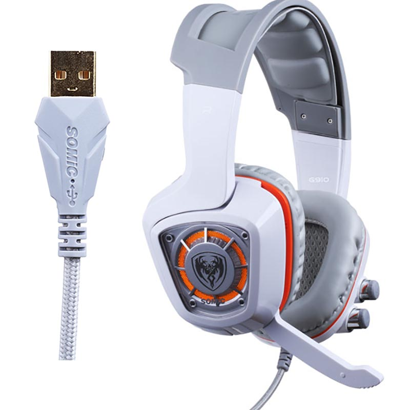 Authentic Somic G910 LED Virtual 7.1 Surround Sound USB Gaming Headphone Stereo Vibration Headset Microphone For CF LOL PC Games хмель