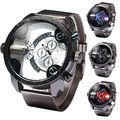 Nuevo Reloj de Cuarzo de Moda de Lujo Dual Time Ejército Militar Reloj de Pulsera de Cuarzo Dial Grande shiweibao estudiantes de Los Relojes Del Relogio masculino A3130