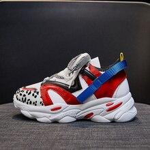 Damskie buty platformy trampki mody wysokiej zwiększenie buty damskie Chunky tata buty mieszane kolory Scarpe Donna obuwie