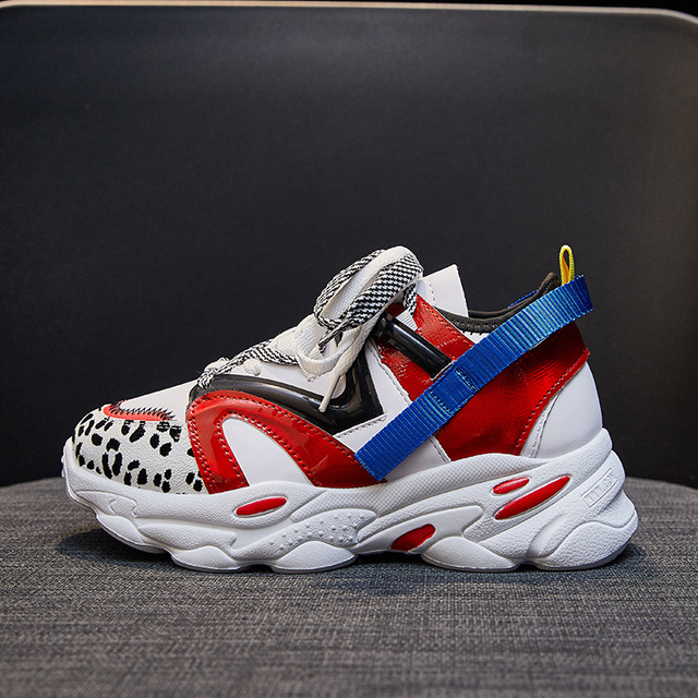 Women Shoes Platform Casual Sneakers Fashion High Increasing Ladies Shoes Chunky Dad Shoes Mixed Colors Scarpe Donna Footwear