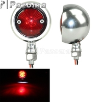 Universal LED Motorcycle Taillight Retro Red Rear Tail Brake Stop Lamp For Harley KTM Honda Yamaha Cafe Racer Chopper Bobber