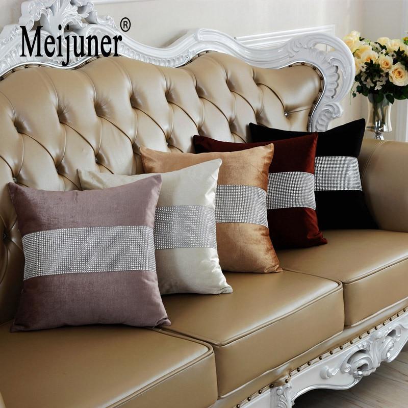 Meijuner Velvet Fabric Diamond Pillow Cover Cushion Cover Shining Home Decor Pillow Decorative Throw Pillows Pillow Case 45X45cm