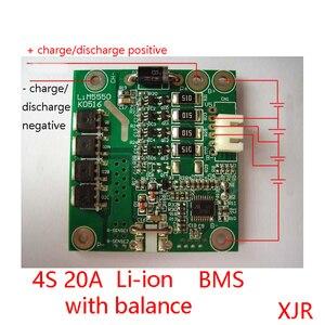 4S 20A PCM PCB BMS 18650 Защитная плата литий-ионного аккумулятора для 4 упаковок 18650 литий-ионных аккумуляторов с балансом