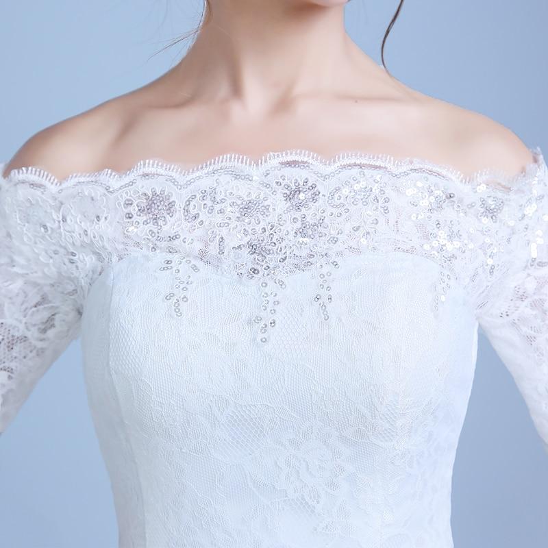 2017 nou culoare sosire albă Mermaid Lace rochie de - Rochii de mireasa - Fotografie 4