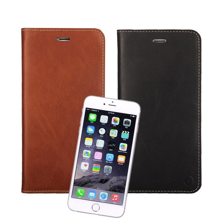 bilder für Neue Für iPhone 5 S 5 Fall Luxury Real Leder Brieftasche Flip Fall für iPhone 5 5 S 5G Genuine Ledertasche Tasche Mit Karte halter