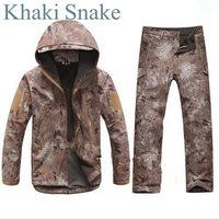 Tactical Jackets Sets Army Camouflage Coat Trousers Waterproof Windbreaker Raincoat Pants Outdoors Clothes TAD Uniform