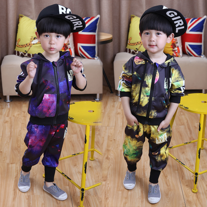 Children's wear boy's suit the new 2016 spring children sports cardigan two-piece 1-2-3-4-5 years old baby boom new the european ce standards pp plastic baby walkers scooters musical scooter for children 2 years of age or older