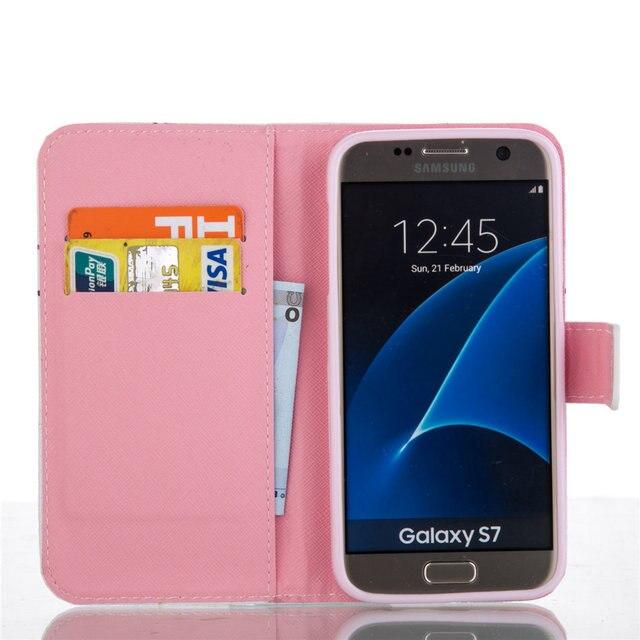 En Cuir de luxe étui pour samsung galaxy Note8 J3 J5 J7 A3 2016 A5 2017 J2PRO A8 2018 S9 S8 Plus S7 S6 Bord Portefeuille Housse P23Z